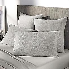 Sheridan - Khaki 'Broderie' pillow case pair