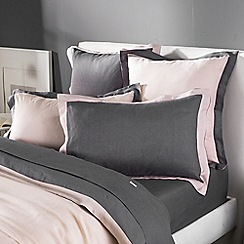 Sheridan - Light pink 'Ekard' Oxford pillow case