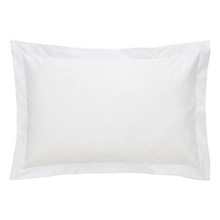Sheridan - White 500 thread count cotton sateen Oxford pillow case pair