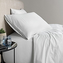 Sheridan - White 500 thread count cotton sateen sheet pillow case pair