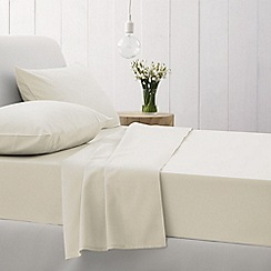 Sheridan - Cream 500 thread count cotton sateen flat sheet