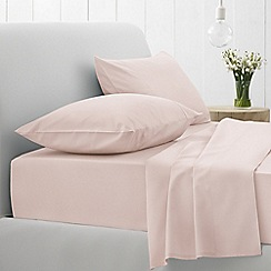 Sheridan - Pale pink '500 thread count cotton sateen' flat sheet