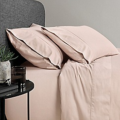 Sheridan - Pale pink '500 thread count cotton sateen' sheet pillow case pair