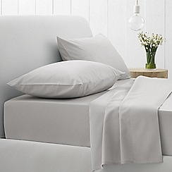 Sheridan - Silver '500 thread count cotton sateen' flat sheet