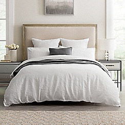 Sheridan - White 200 thread count 'Augustes' duvet cover