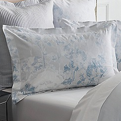 Sheridan - Grey 240 thread count 'Newhall' Oxford pillow case pair