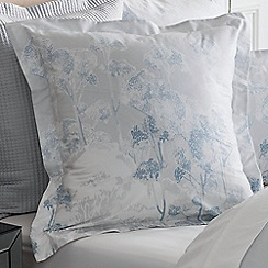 Sheridan - Grey 240 thread count 'Newhall' square pillow case
