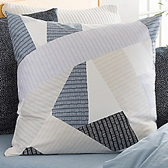 Sheridan - Blue 220 thread count 'Eastam' square pillow case