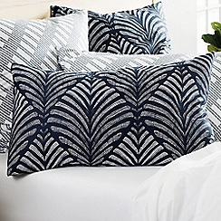 Sheridan - Navy 220 thread count 'Zofia' pillow case pair