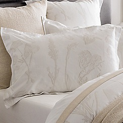 Sheridan - Beige 380 thread count 'Hollins' Oxford pillow case pair