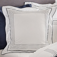 Sheridan - Navy 325 thread count 'Goddard' square pillow case