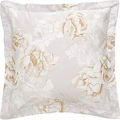Sheridan - Beige 380 thread count 'Lumley' square pillow case