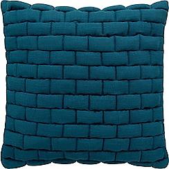 Sheridan - Dark turquoise 'Weavers' cushion