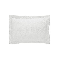 Sheridan - White 200 thread count 'Otterson' oxford pillow case pair
