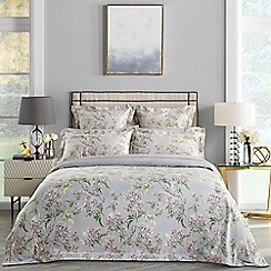Sheridan - Pale grey 'Lineham' 300 thread count bedding set