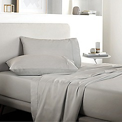 Sheridan - Pale grey 500 thread count 'Tencel' fitted sheet