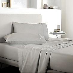Sheridan - Pale grey 500 thread count 'Tencel' flat sheet