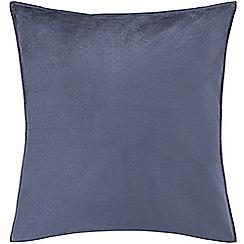 Sheridan - Mid blue 250 thread count 'Garden retreat' square pillow case