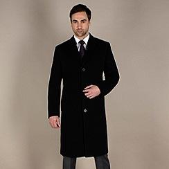 Jeff Banks - Black plain long overcoat