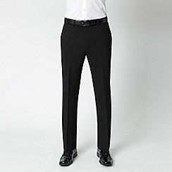 Karl Jackson - Black machine washable flat-front trousers