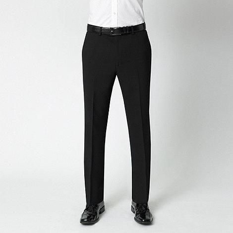 Karl Jackson - Black machine washable flat-front trousers