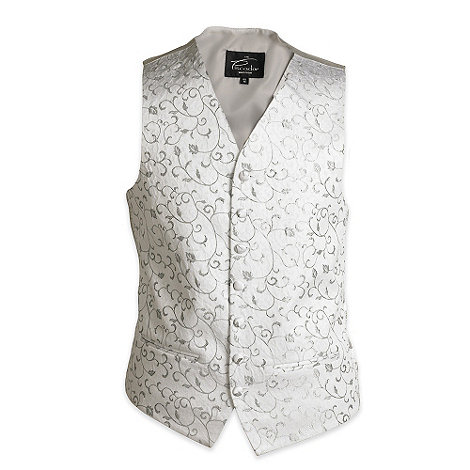 Piscador - Silver floral wedding waistcoat