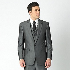 J by Jasper Conran - Silver grey tonic single breasted one button 3 piece suit