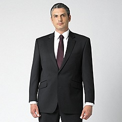 Centaur Big & Tall - Plain black 2 button suit jacket