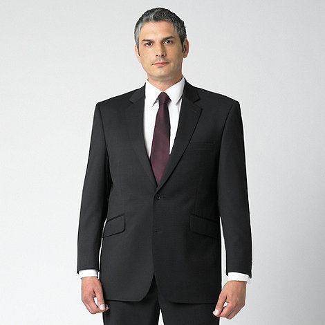 Centaur Big & Tall - Plain black 2 button suit jacket