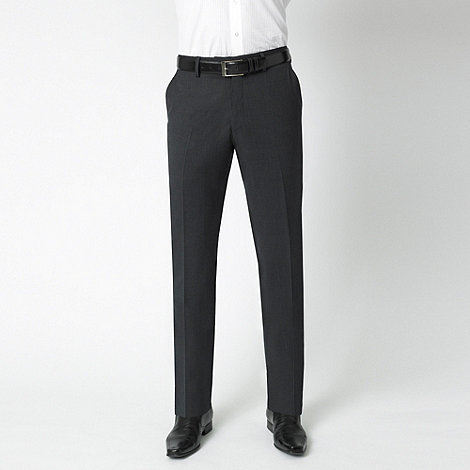 Stvdio by Jeff Banks - Charcoal wool blend luxury suit trousers