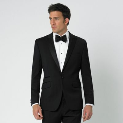 Black Dresswear 1 Button Suit Jacket