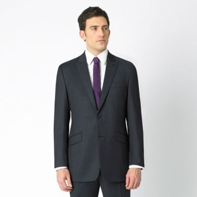 Ink Blue Pindot Luxury Suit Jacket