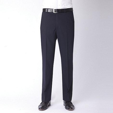 Jeff Banks - Navy plain travel plus suit trouser