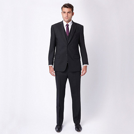 Jeff Banks - Charcoal plain travel plus suit trouser