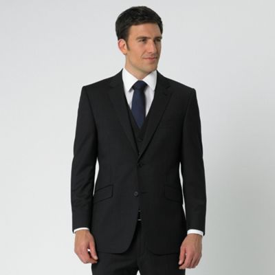 Black Stripe 2 Button Suit Jacket