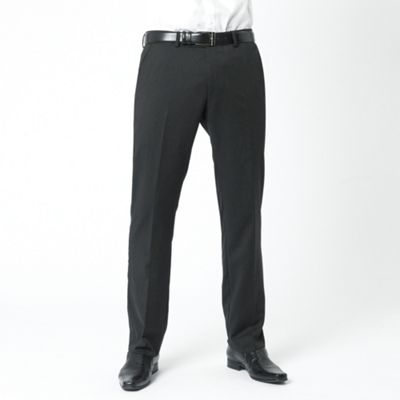 Black Narrow Stripe Kings Fit Suit Trouser