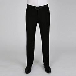 Red Herring - Black plain weave slim fit trouser