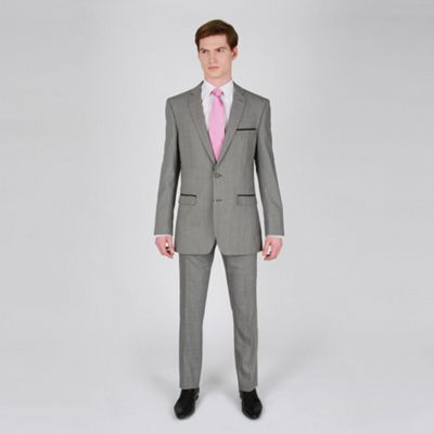 Silver Check Fashion Suit Trouser