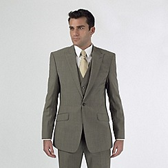 Stvdio by Jeff Banks - Taupe mohair look 1 button suit jacket