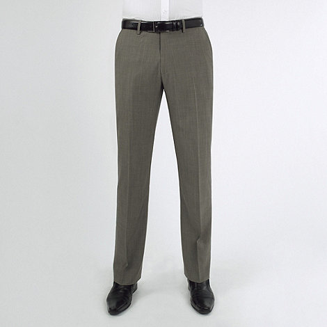 Stvdio by Jeff Banks - Taupe mohair look suit trouser