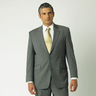 Silver Blue Stripe 2 Button Suit Jacket