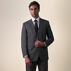Karl Jackson - Grey semi plain 2 button suit
