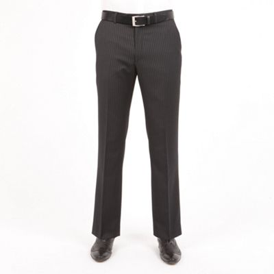 Charcoal Stripe Washable Suit Trousers