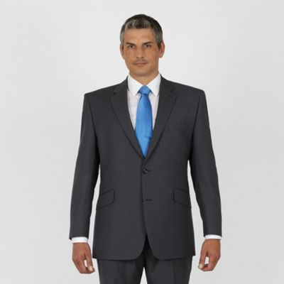 Grey Blue Stripe 2 Button Washable Suit Jacket