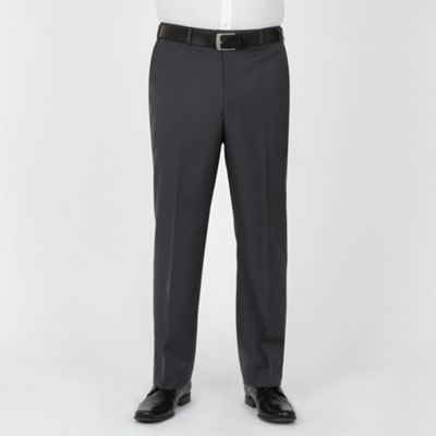 Grey Blue Stripe Washable Suit Trouser