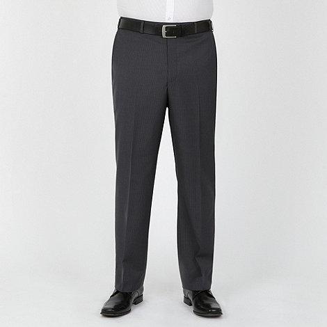 Centaur Big & Tall - Grey blue stripe washable suit trouser
