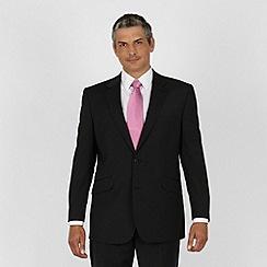 Centaur Big & Tall - Black fine stripe 2 button washable suit
