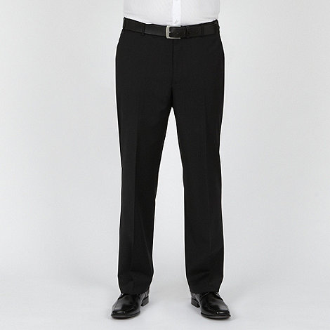 Centaur Big & Tall - Black fine stripe washable suit trousers