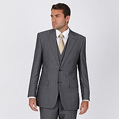 Jeff Banks - Grey twill 2 button suit jacket