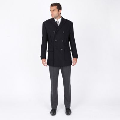 Navy Patch Pocket Overcoat